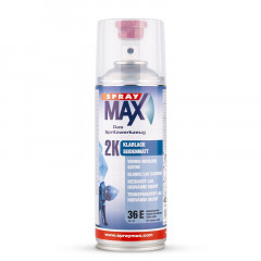 Vernis carrosserie bi composant polyuréthane Spray Max 2K satiné 400ml