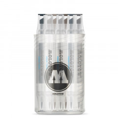 Box 12 feutres Molotow Aqua-Twin | Kit Grey