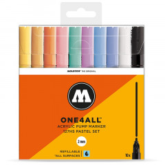 Clearbox 10 marqueurs One4all 2mm | Kit Pastel