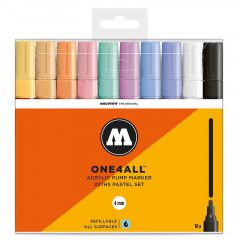 Clearbox 10 marqueurs One4all 4mm | Kit Pastel