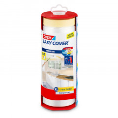 Dévidoir Easy Cover et bâche de protection Tesa | 2,6m x 17m