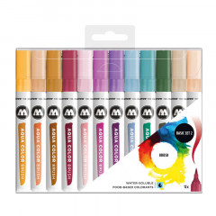 Clearbox 12 feutres Molotow Aqua Color Brush | Basic Set 2