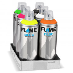 Flash'Pack 6 bombes fluorescentes Flame Blue 400ml