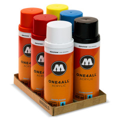 Pack 6 bombes de peinture Molotow One4all 400ml | Kit 1