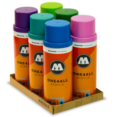 Pack 6 bombes de peinture Molotow One4all 400ml | Kit 2