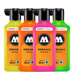 Kit fluo Molotow One4all   4x180ml