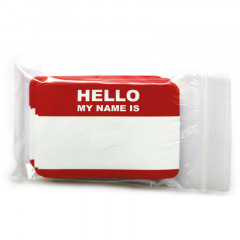 Stickers Hello my name is 7x10 cm | 50 pces