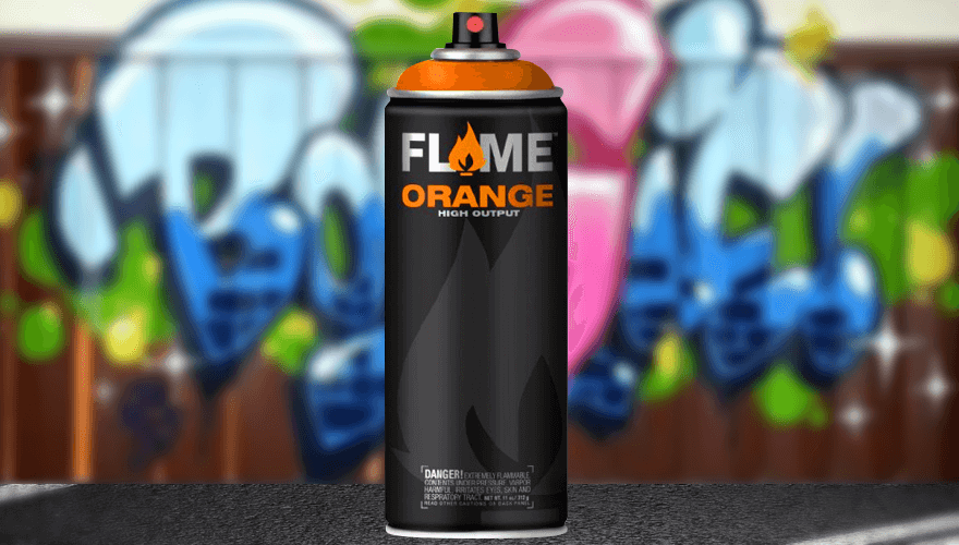 bombe de peinture Flame Orange